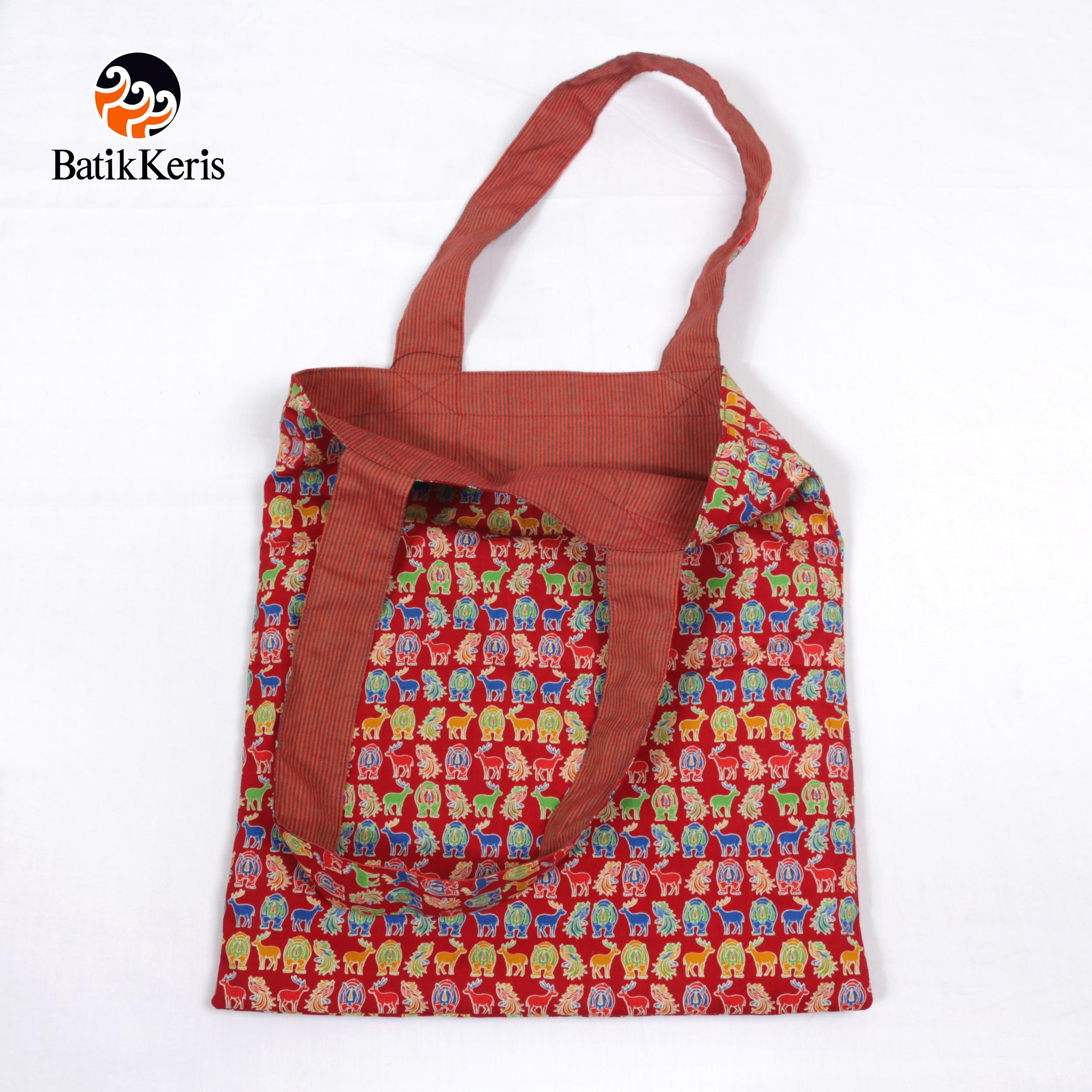 Reversible Totte Bag Motif Asian Komb Lurik