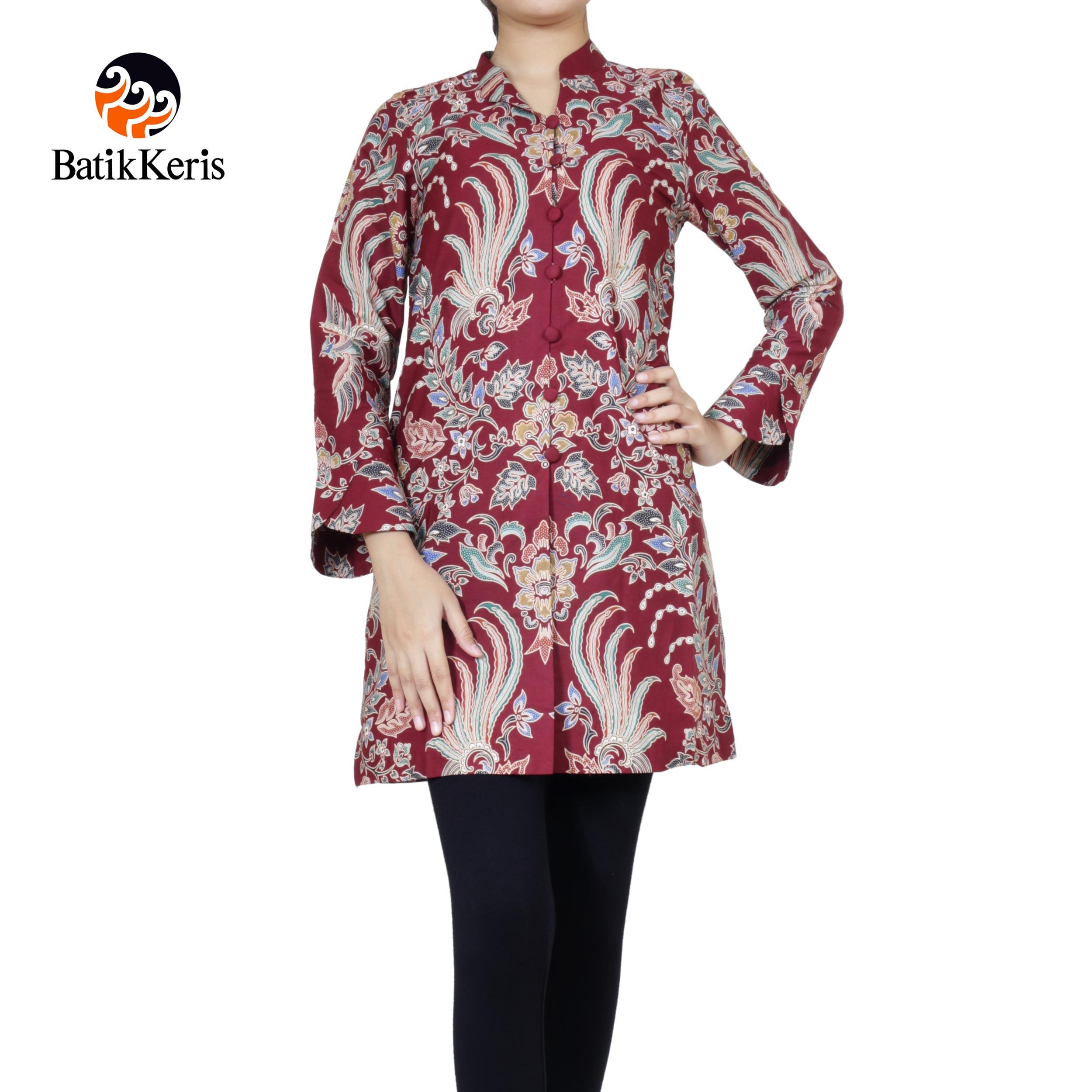 blouse lengan panjang motif bayu kertabumi