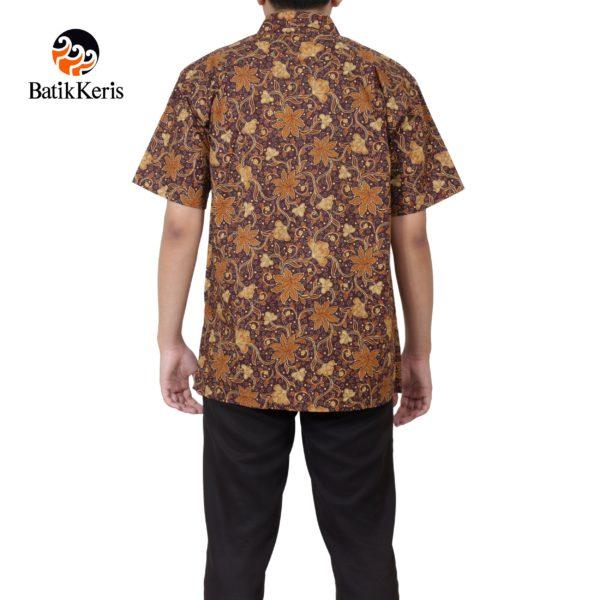kemeja santai batik keris motif sekar lung angkoso