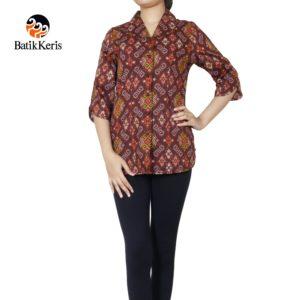 blouse lengan 3/4 batik keris motif iromo warno