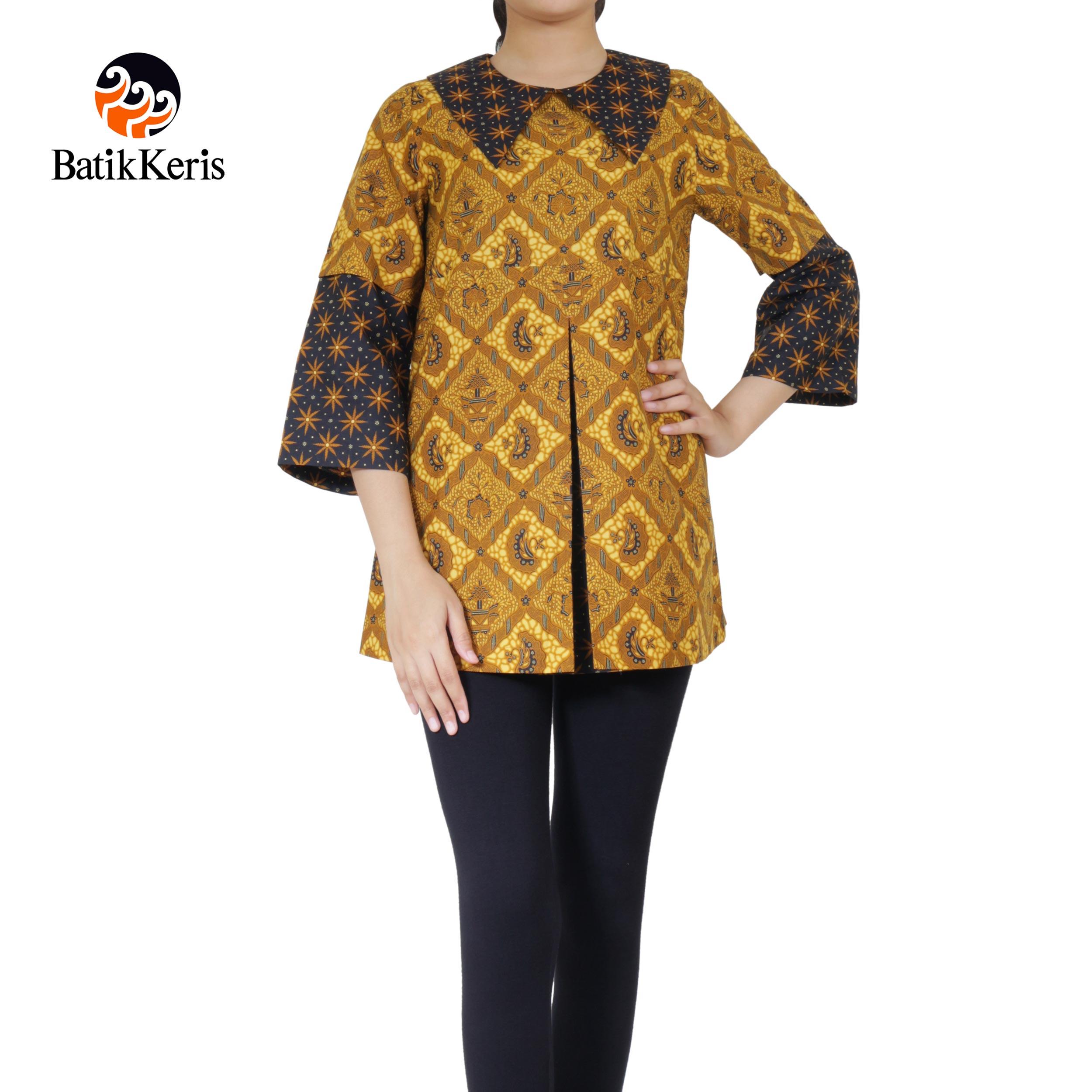 blouse lengan panjang motif sido gurdo ngremboko komb truntum