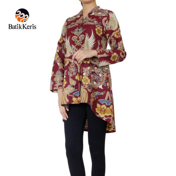 blouse batik lengan 3/4 motif bayu hapsari