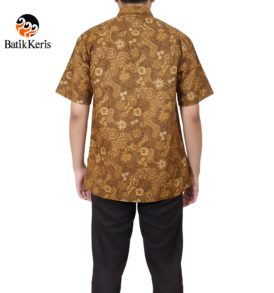 kemeja santai batik keris motif lengkung ron sewu
