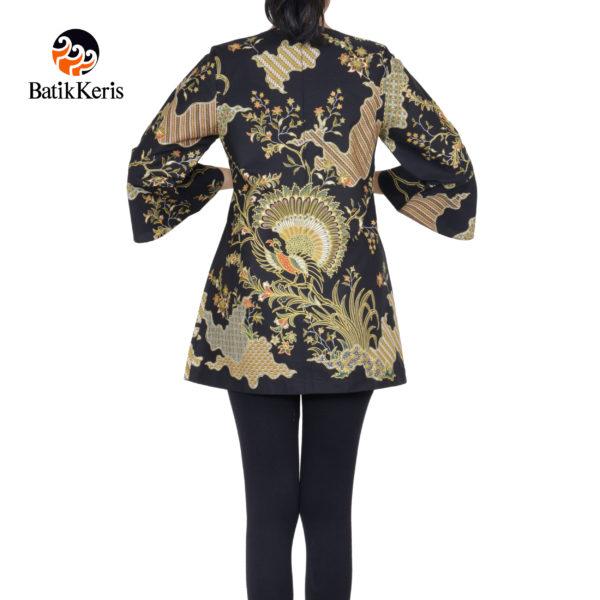 blouse lengan panjang batik keris motif merak damar asri