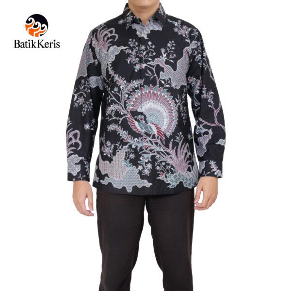 kemeja formal lengan panjang batik keris motif merak damar asri