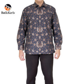 kemeja batik keris formal lengan panjang motif adi suryo