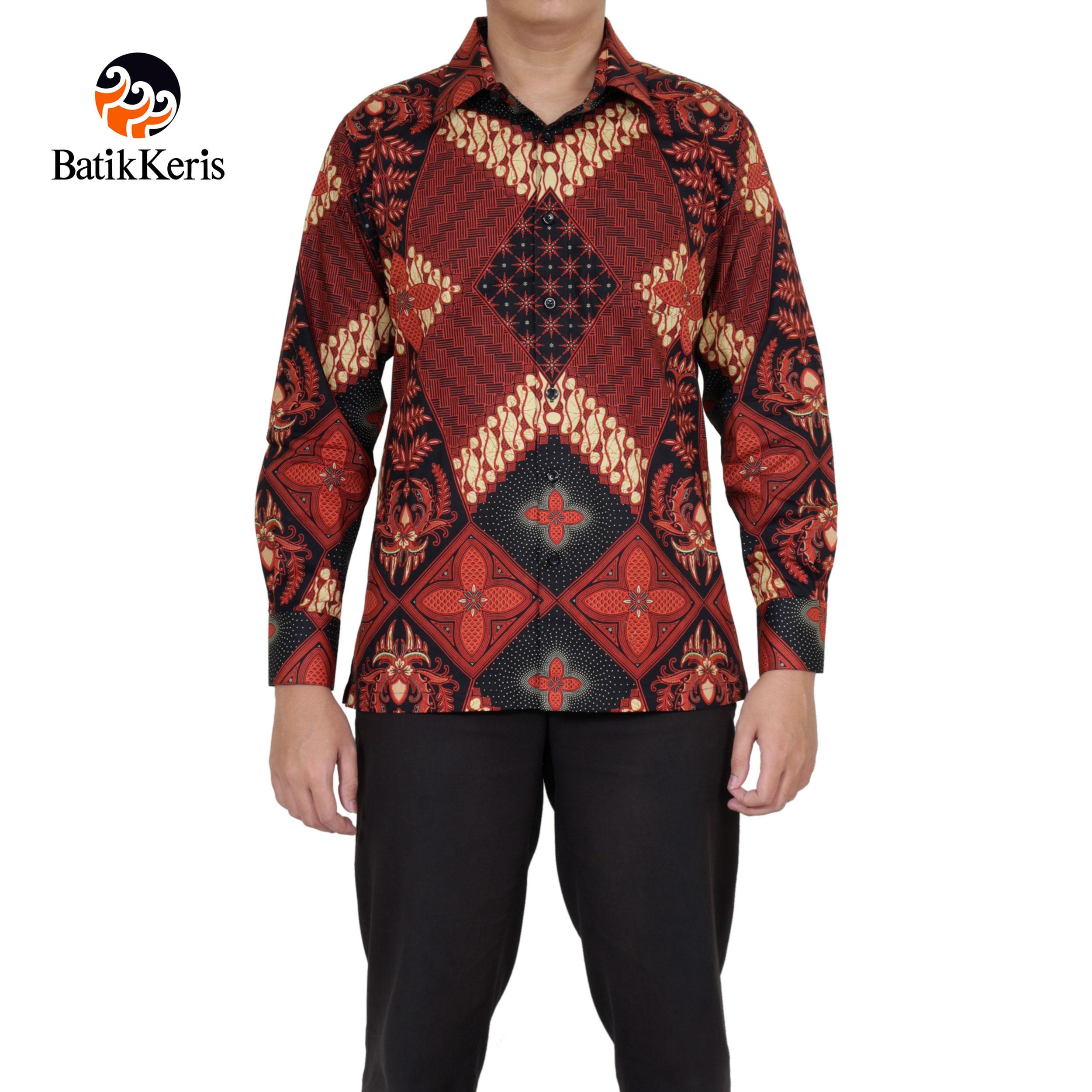 kemeja slimfit lengan panjang batik keris motif baswara