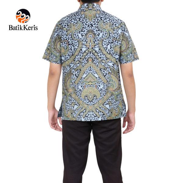 kemeja formal lengan pendek batik keris motif satrio saelendro