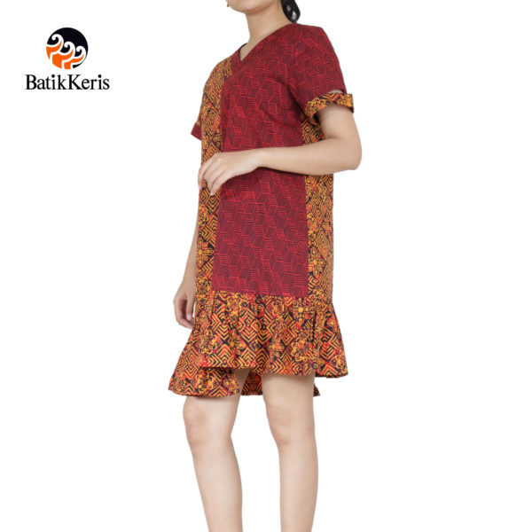dress batik keris motif Ceplok puspito komb gedekan