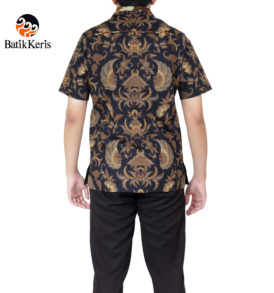 kemeja batik keris slimfit lengan pendek motif semen mulyo komb doreng aji