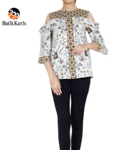 blouse lengan 3/4 motif sido mangku jiwo