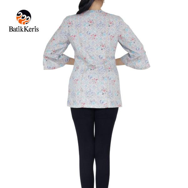 blouse batik keris lengan 3/4 motif songket lungsari