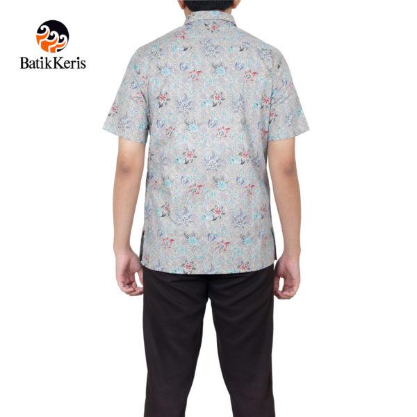 kemeja batik keris lengan pendek motif songket lungsari