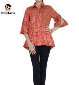 blouse lengan 3/4 motif wredu wijaya komb