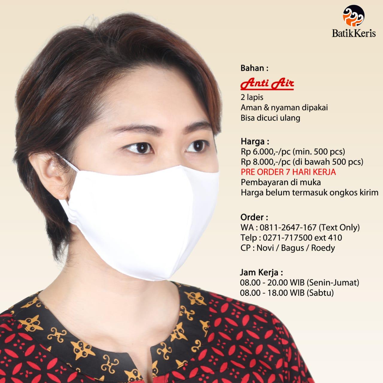 Penutup mulut dan hidung anti air