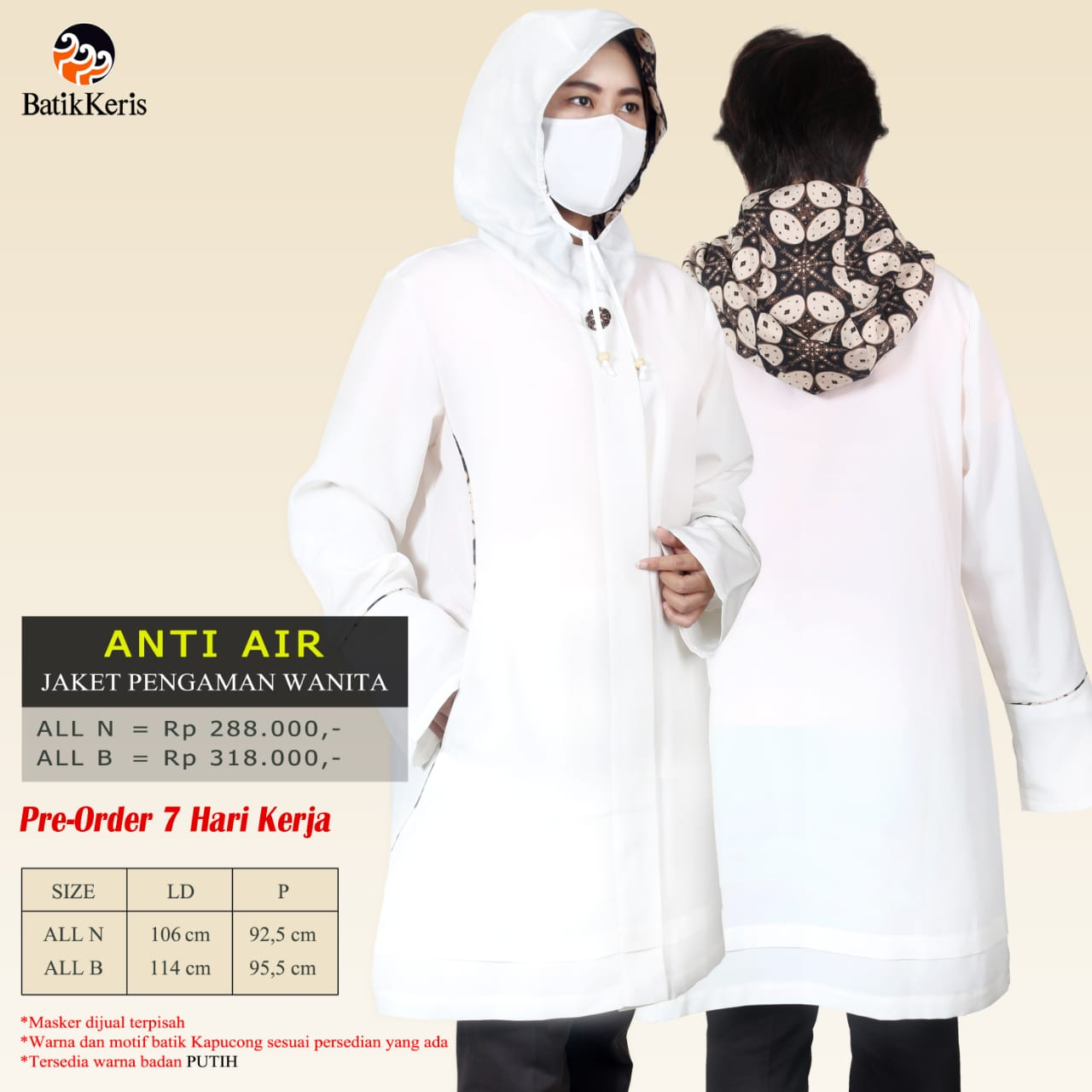 Jaket Anti Air Wanita