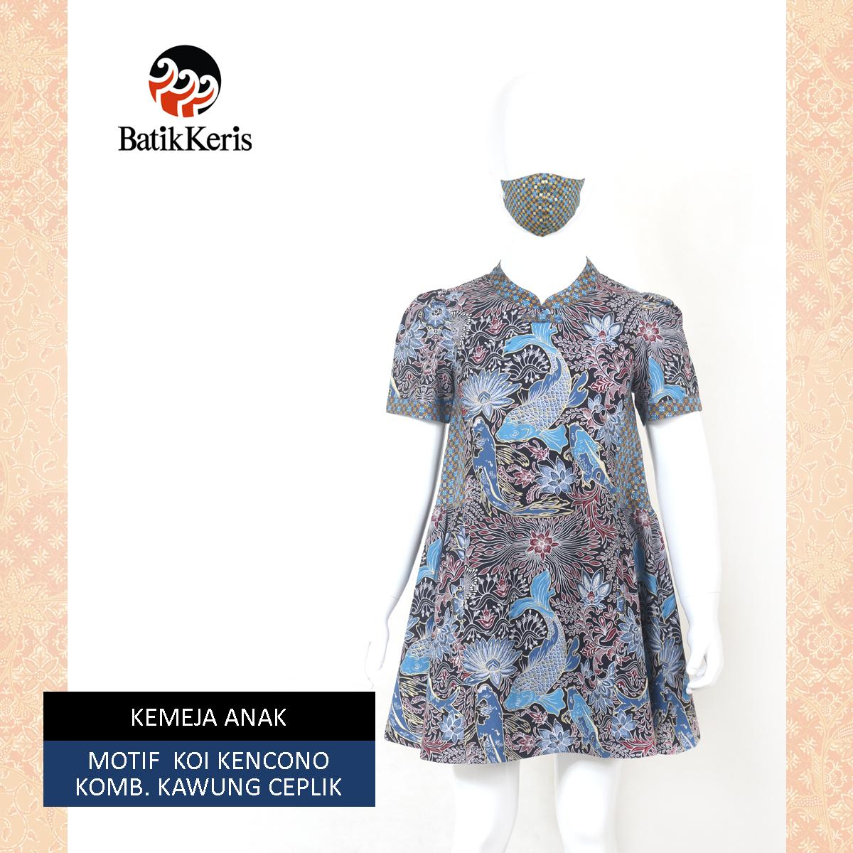 Dress Anak Koi Biru DEPAN